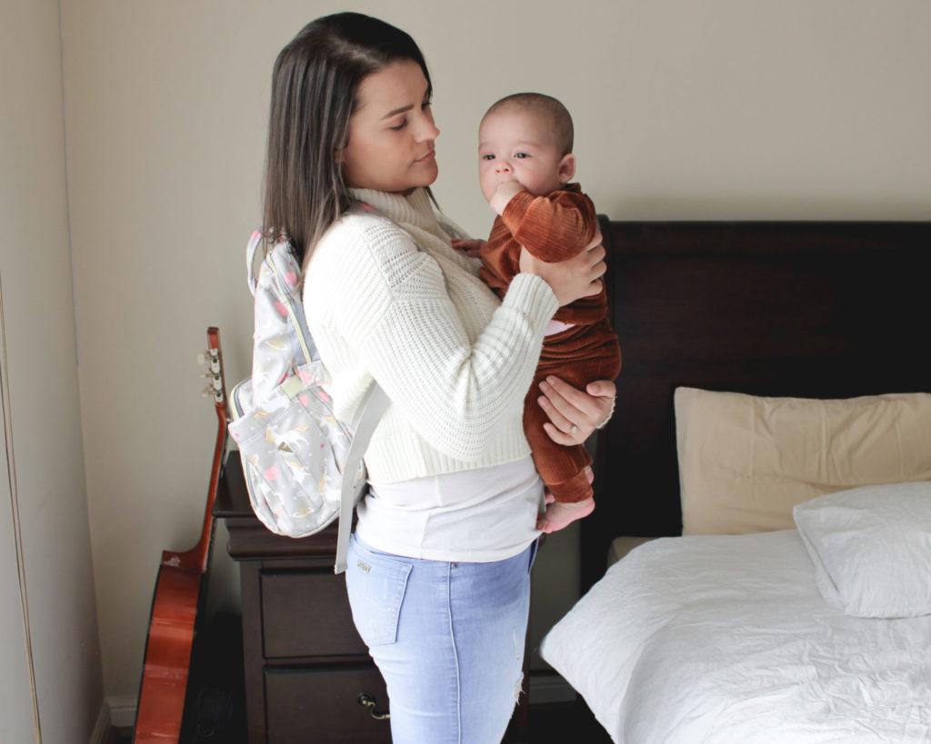 Postpartum tips on holding baby